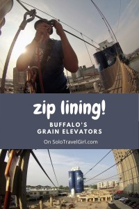 Pinterest Pin - Zip Lining Buffalo's Grain Elevators