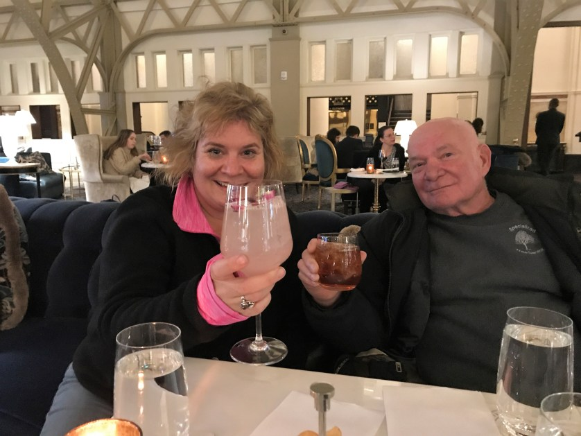 Cheers! I'm Drinking the $27 The Belle of Congress and My Dad is Drinking a Manhattan, Nov. 2018.