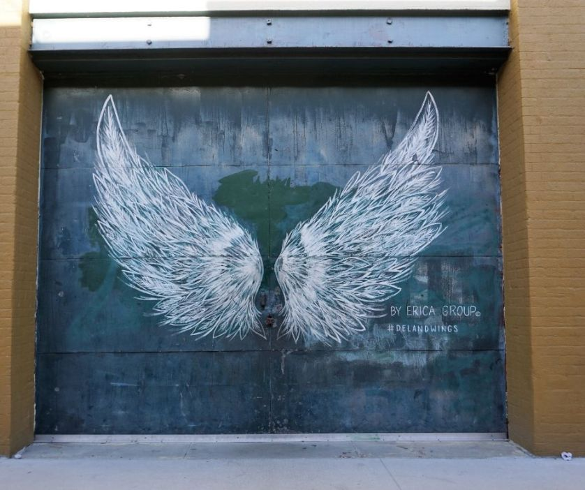#DeLandWings by Erica Group Inspired the #WingsOfTheWest Mural Trail in West Volusia County, Fla.