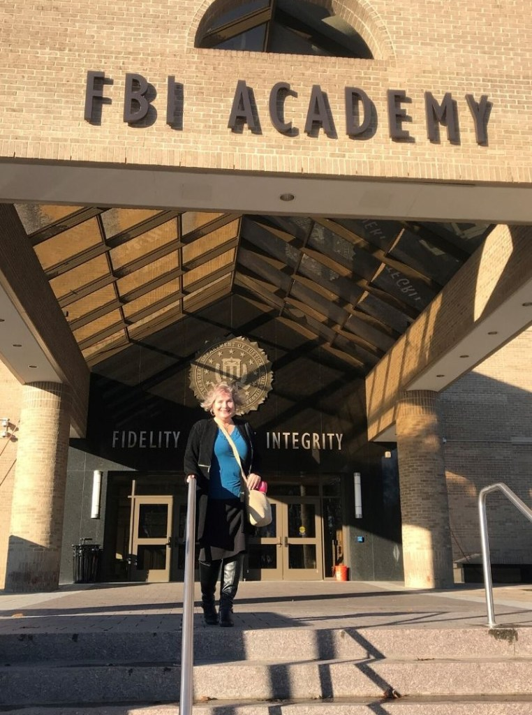 That's Me on the Steps of the FBI Academy in Quantico, Va., That's Me on the Steps of the FBI Academy, Dec. 2019.