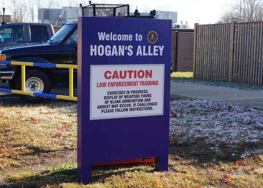 Welcome to Hogan's Alley at the FBI Academy in Quantico, Va., Dec. 2019.