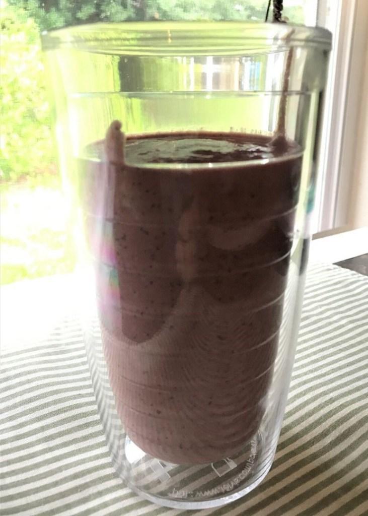 My Breakfast, Blueberry Smoothie.