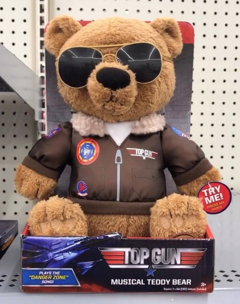 """I Grabbed this """"Top Gun Musical Teddy Bear"""" that Plays """"Danger Zone"""" at Walmart for $7! You Can Find it on Amazon but it Costs a Little More."""