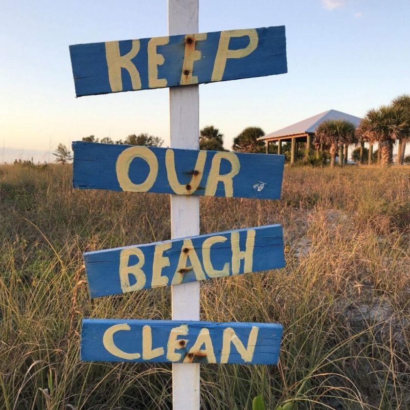 """""""Keep Our Beach Clean,"""" Englewood Beach, Fla., Feb. 2020"""