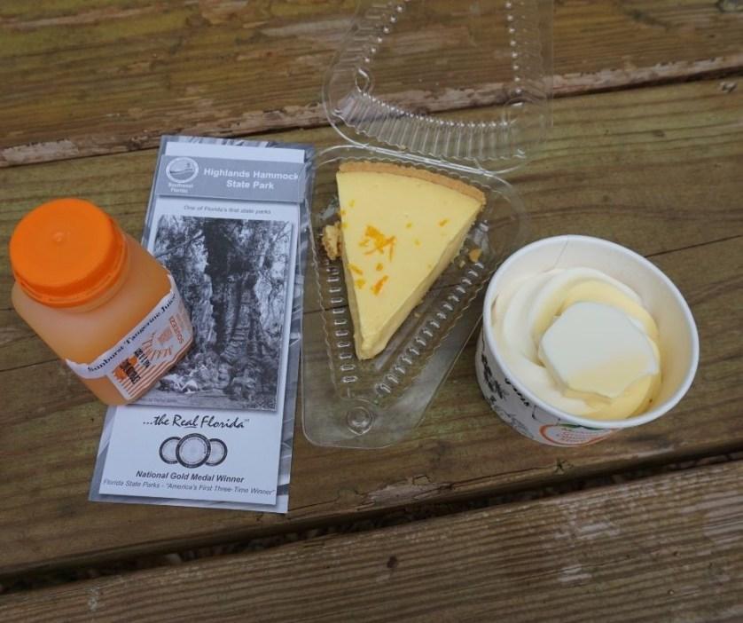 Tangerine Juice, Sour Orange Pie, and Orange Twist Ice Cream from the Highlands Hammock Inn.