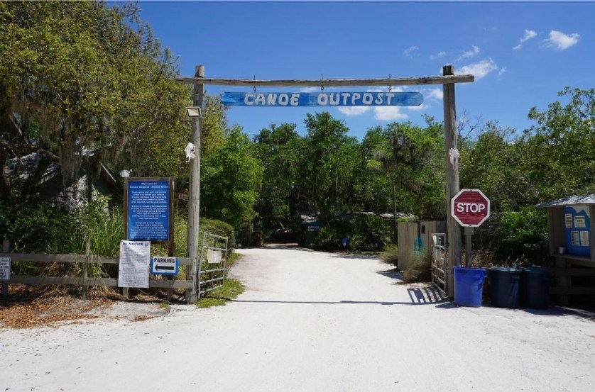 Entrance to Canoe Outpost - Peace River in Arcadia, Fla., March 2021.