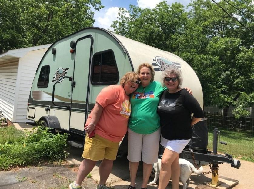Yellowstone Reunion! Janet, Wanda, Me and Radcliff.
