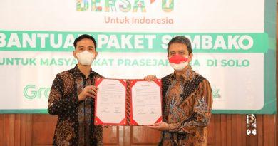 Presiden Grab Indonesia, Ridzki Kramadibrata dan Walikota Surakarta Gibran Rakabuming Raka