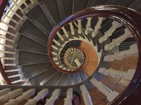 spiral staircase in the Old State House