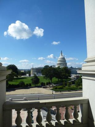 Capitol building from the Library of Congress