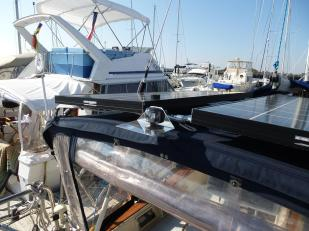 fitting installed above bimini