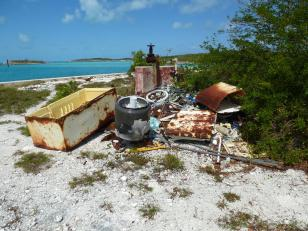 some of the trash that has been pulled from the harbor over the years