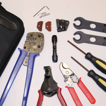 Solar Installer's Tool Kit with Crimpers