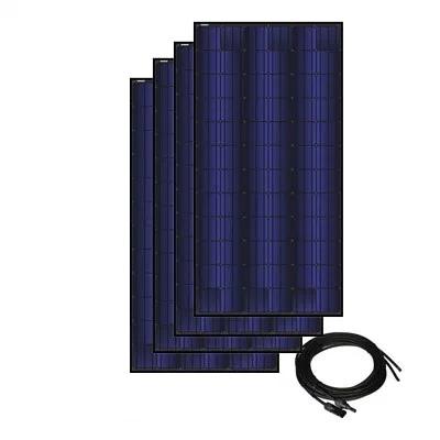 Solar Panel Kit for Solar A/C- 4 Panels, 350 watt ea., 72 cell triple black