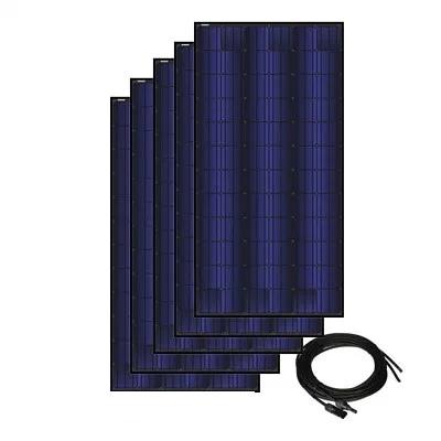 Solar Panel Kit for Solar A/C- 5 Panels, 350 watt ea., 72 cell triple black