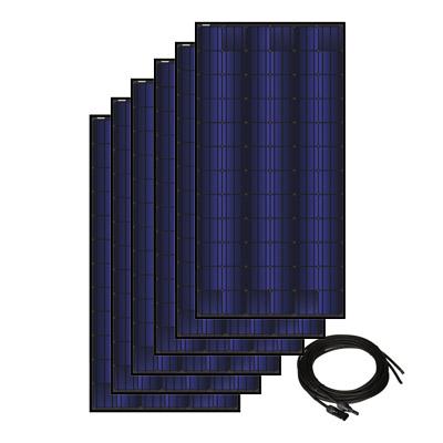 Solar Panel Kit for Solar A/C- 6 Panels, 350 watt ea., 72 cell triple black