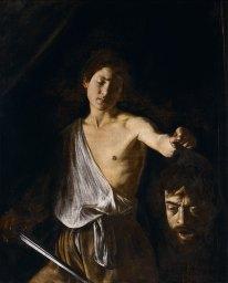 Le Caravage - David tenant la tête de Goliath, vers 1608