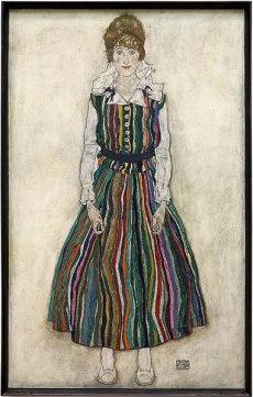 Portrait d'Edith Harms par Egon Schiele