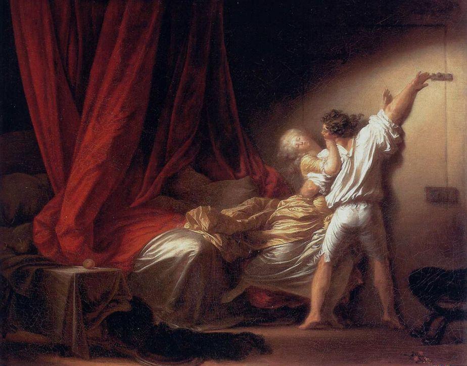 Fragonard, le verrou, 1777