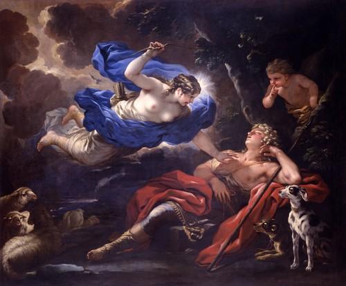 Luca Giordano, Diane et Endymion, 1675-1680