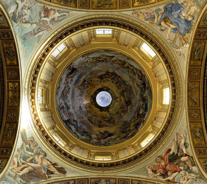 Dominiquin, Pendentifs de la coupole de l'église Sant Andrea della Valle