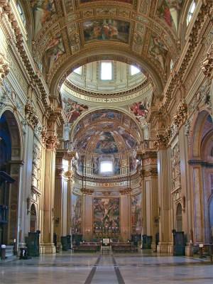 Vue de la nef et de la coupole de Sant Andrea della Valle