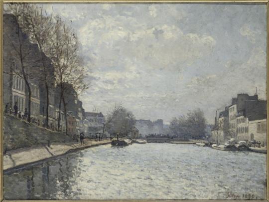 Alfred Sisley, Vue du canal Saint-Martin, 1870