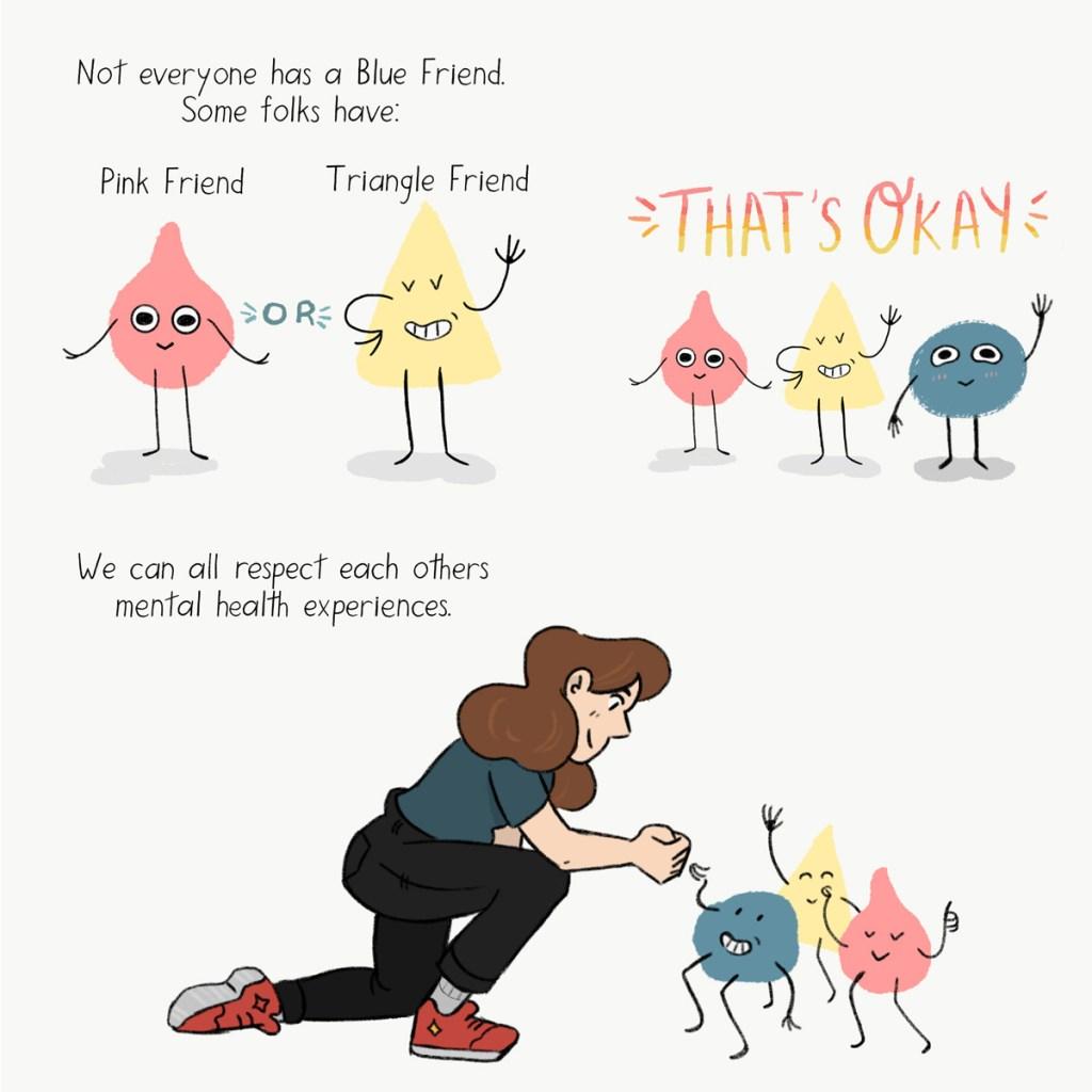 Blue Friend Panel #10 by Grace Desmarais