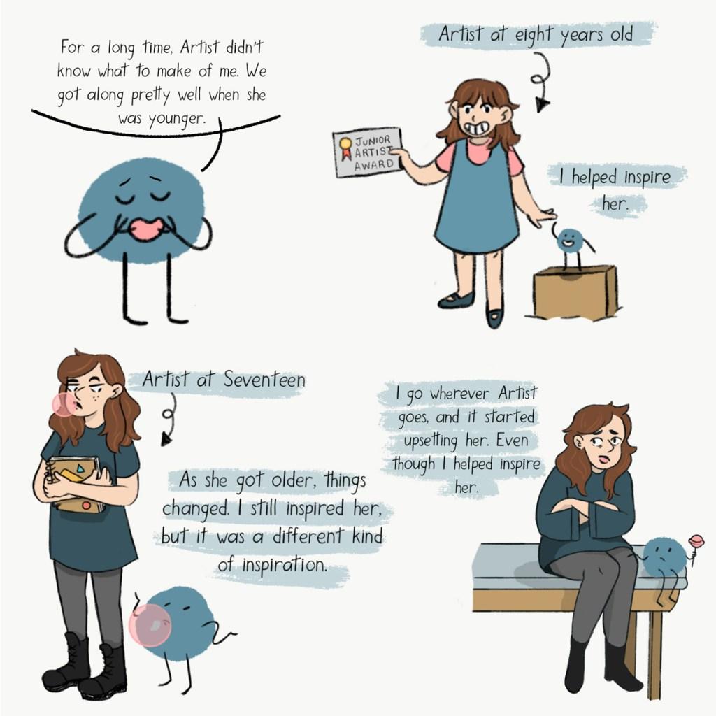 Blue Friend Panel #6 by Grace Desmarais