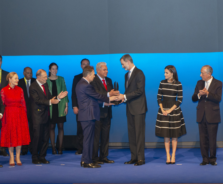 El Rey Felipe VI recibe el World Peace and Liberty Award