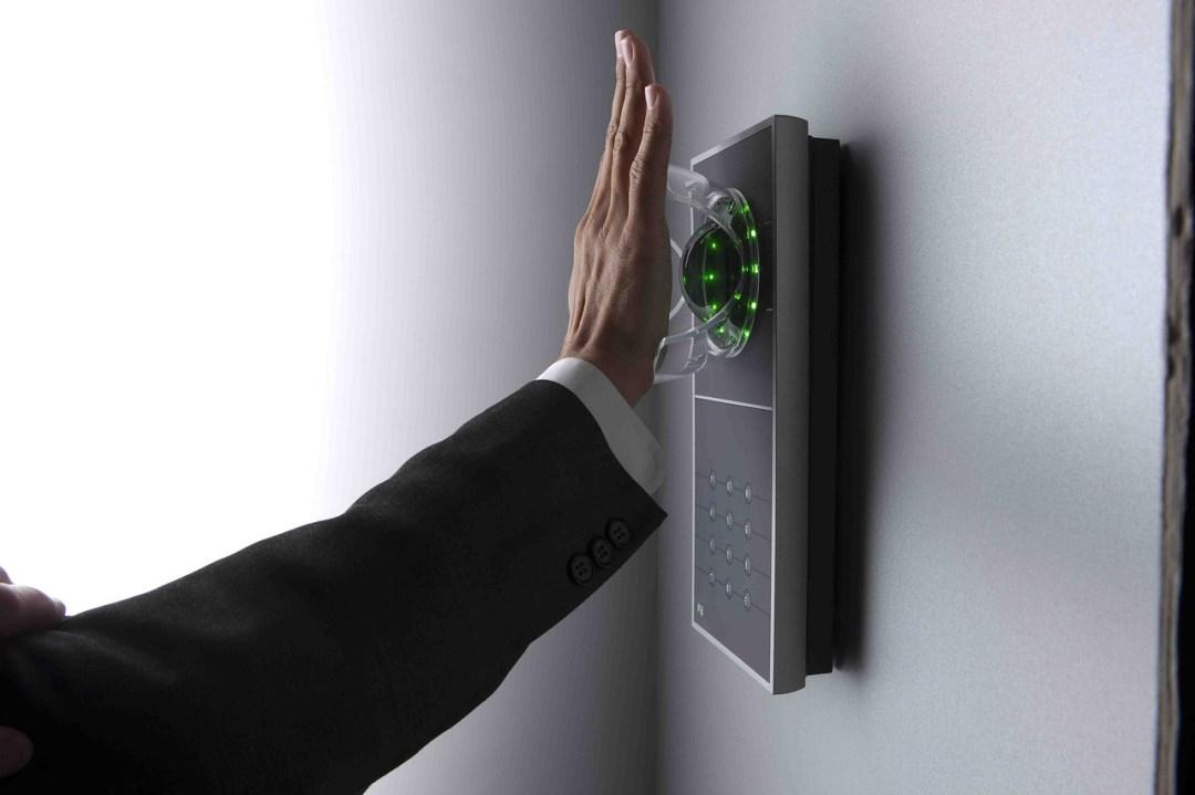 lector biometrico mano