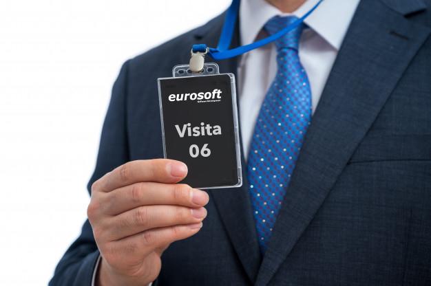 tarjeta de acceso para control de visitantes