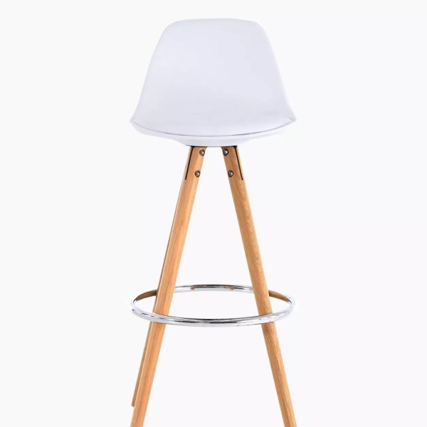 Chaises de bar cir-cha blanc - Lot de 2