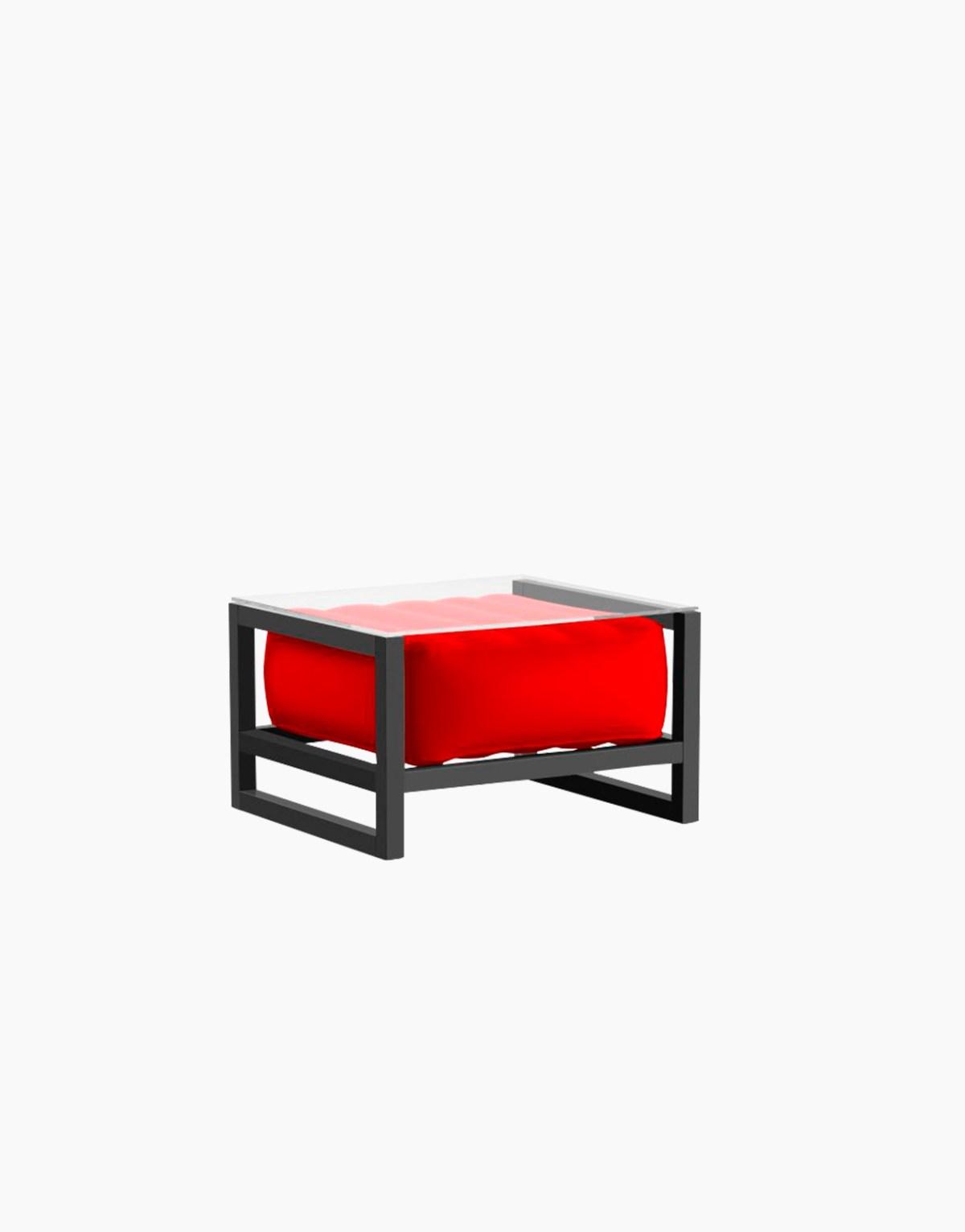 Revendeur de Mojow solution design fr mobilier table basse Yoko rouge opaque