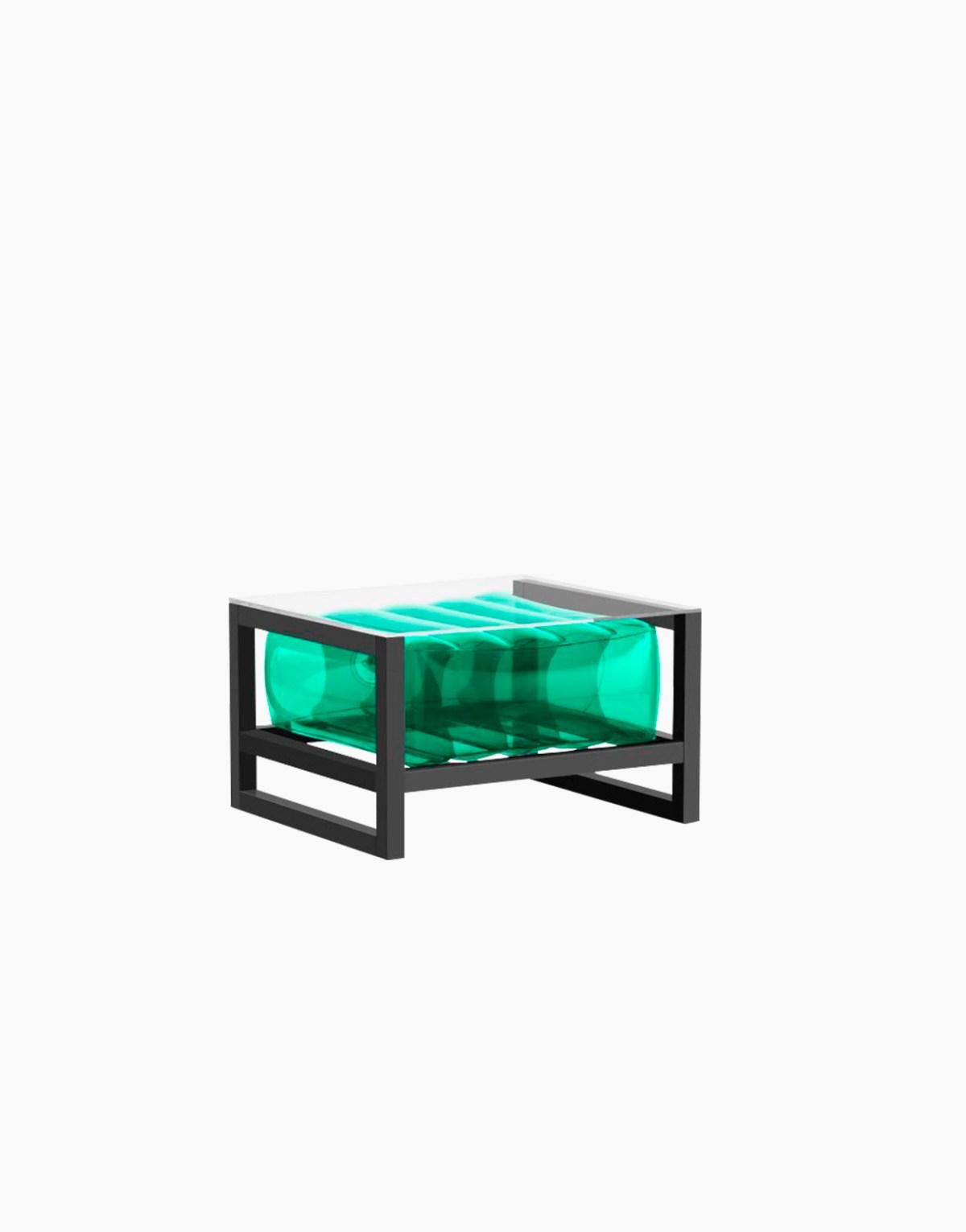 Revendeur de Mojow solution design fr mobilier table basse Yoko vert cristal