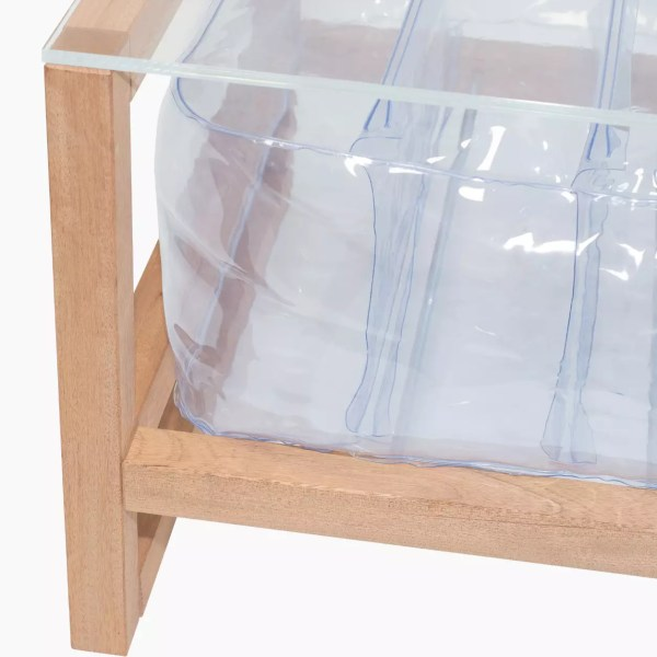 Revendeur de Mojow solution design fr mobilier table basse Yoko wood transparent