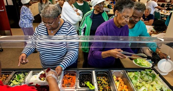 dining center composts food waste for its vegetable garden