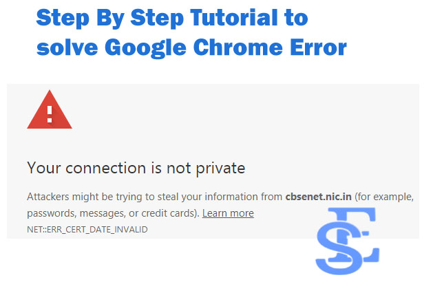 Fix Your Connection Is Not Private Google Chrome Error - 6