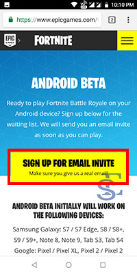 install Fortnite Battle Royale on android,install Fortnite Battle Royale in android, Fortnite android invite link, Fortnite android, Fortnite android apk download