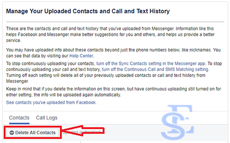 remove non friends from facebook messenger, Imported Contacts for Messenger, remove facebook messenger unknown contacts