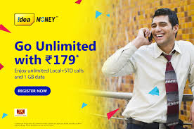 Idea 179 plan Details : Offering 1 GB data and Unlimited Calling for 21 days