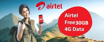 Airtel 30 GB Offer 2018 – Free 30 GB Data 3G/4G Data for 3 Month { How to activate }