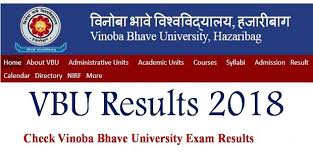 VBU Result 2018 of 1st, 2nd and 3rd Semester at vbu.ac.in or vbu.co.in