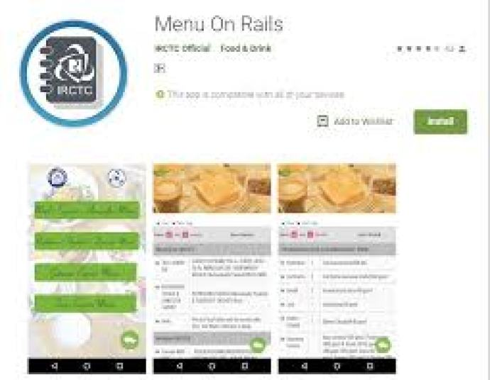 Free Menu On Rail App Download for android, iOS