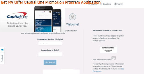 Get My Offer Capital One Promotion Program Application