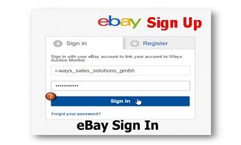 eBay Facebook Page Sign-up