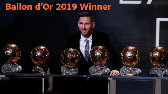 Ballon d'Or 2019 Winner: Lionel Messi beats Virgil van Dijk and Cristiano Ronaldo to win record sixth trophy