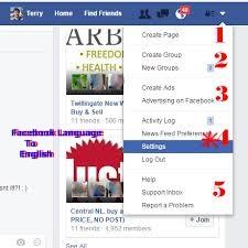 Facebook Language Setting – How To Change My Facebook Language Back To English –