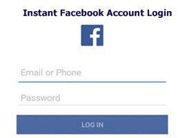 Instant Facebook Account Login – Facebook Instant Login | Login Instantly To Your Facebook Account