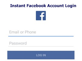 Instant Facebook Account Login – Facebook Instant Login | Login Instantly To Your Facebook Account